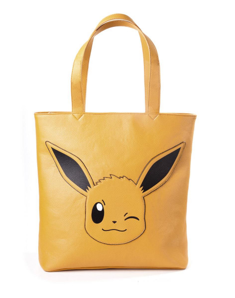 Pokémon Eevee Tote Bag With All Over Printed Lining Brown