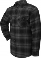 Lucky 13 T-Shirt Shocker Lined Flannel Grey/Black