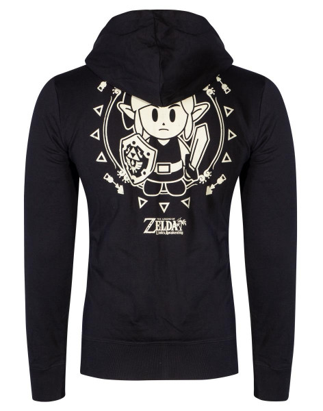 Zelda - Link's Awakening Tribal Men's Hoodie Black