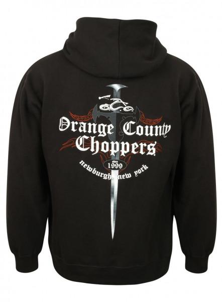 OCC Orange County Choppers Hoodie Shop Dagger Zip Black