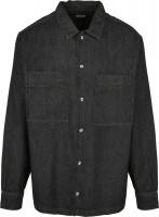 Urban Classics Hemd Oversized Denim Shirt Black Stone Washed