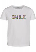 Mister Tee T-Shirt Kids Colorful Smile Short Sleeve Tee white