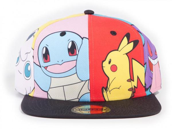 Pokémon Multi Pop Art Snapback Cap in Multicolor