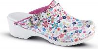 Sanita Damen Offener Clog Little Flower Pink Flower
