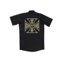 WCC West Coast Choppers Hemd Distressed OG Logo Workshirt Black