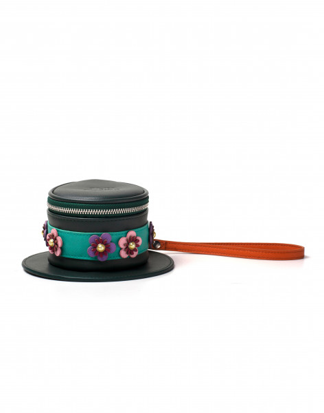 Disney Mary Poppins Hat Shaped Coin Purse Green