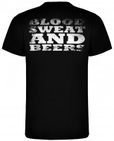 Gas Monkey Garage T-Shirt Distressed Blood Sweat and Beers Classic Black