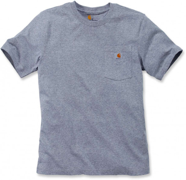 Carhartt Herren T-Shirt Workw Pocket T-Shirt S/S Heather Grey