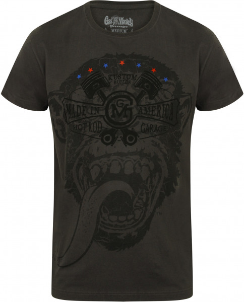 Gas Monkey Garage T-Shirt Big Monkey Grey