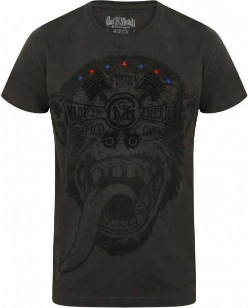 Gas Monkey Garage T-Shirt Big Monkey Grey