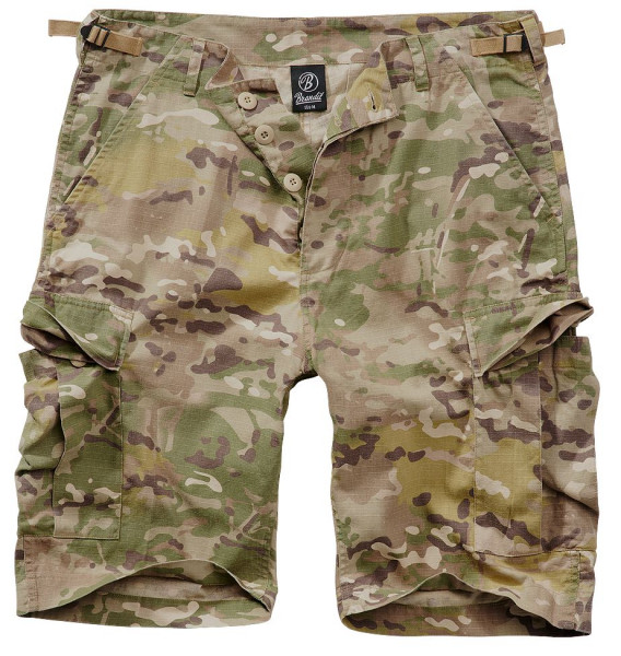 Brandit BDU Ripstop Shorts in Tactical Camo