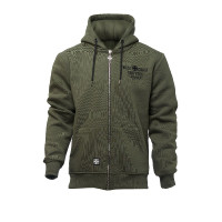 WCC West Coast Choppers Hoodie Motorcycle Co. Zip Hoody Green