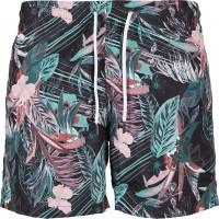 Urban Classics Badehose PatternSwim Shorts Dark Flower Aop