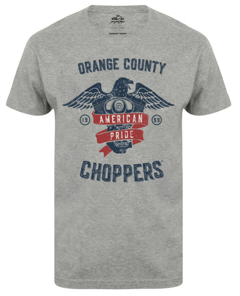 OCC Orange County Choppers T-Shirt American Pride Sports Grey