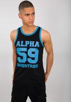 Alpha Industries T-Shirt 59 Tank Neon Print Black/Neon Blue