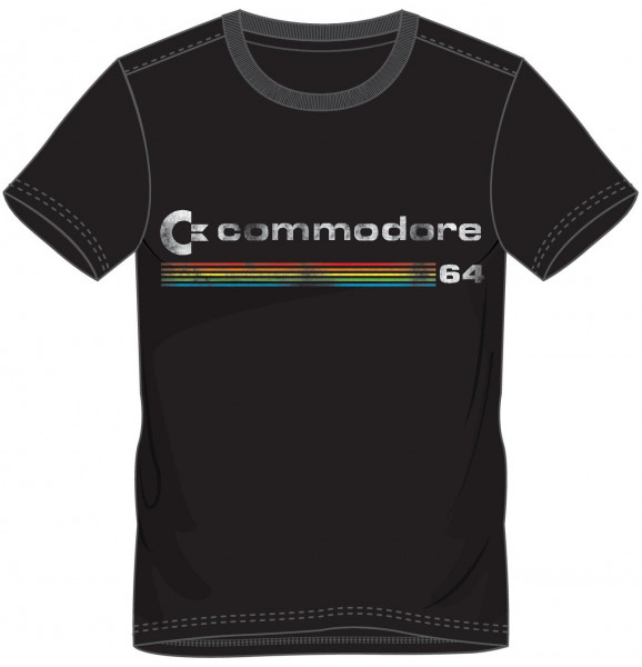 COMMODORE/C64 T-Shirt Logo Men's T-Shirt Black