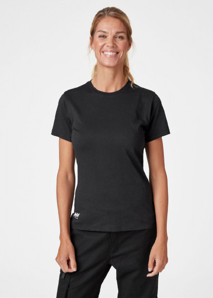 Helly Hansen Female Shirt 79163 W Manchester T-Shirt 990 Black