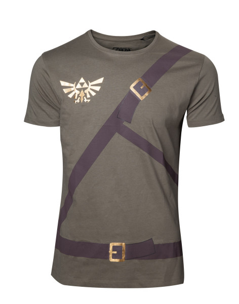 The Legend of Zelda T-Shirt Link's Shirt with Printed Straps Green