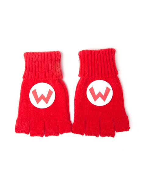 Super Mario Glove Fingerless s Red