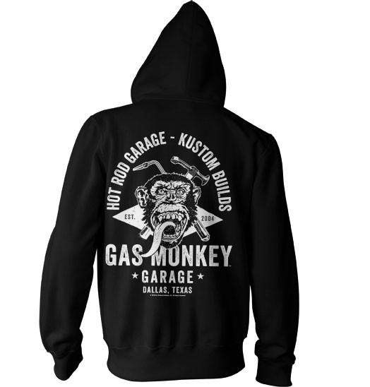 Gas Monkey Garage Hoodie Torch & Hammer Zip Black