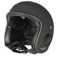 Bores Helm SRM Slight 4 Jethelm mit Leder Innenfutter matt Black