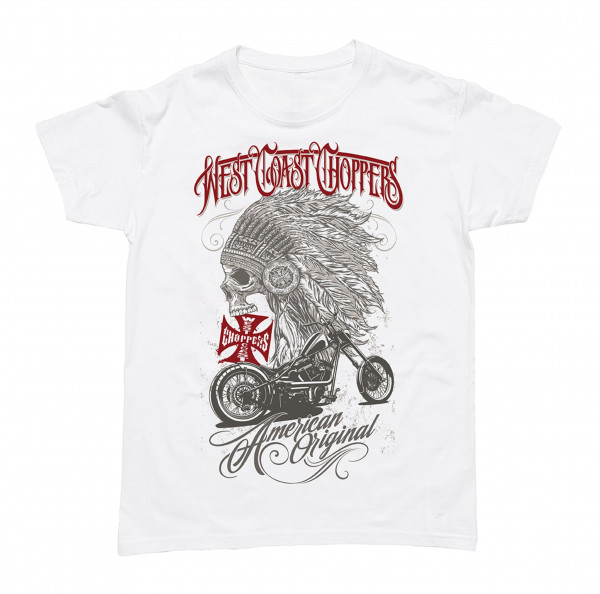 WCC West Coast Choppers T-Shirt Chief Solid White