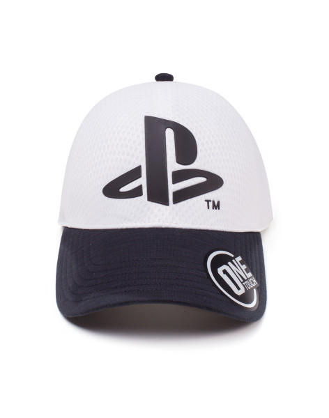 Playstation Cap Logo Seamless Curved Bill White