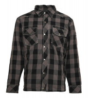 Bores Lumberjack Jacke Hemd in Holzfäller Optik Grey/Black