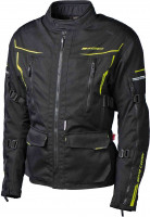 Grand Canyon Motorrad Jacke Catania 3-Lagen-Jacke Black/Fluo Yellow