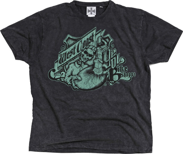 WCC West Coast Choppers T-Shirt Bike Shoppe Vintage Black