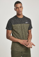 Southpole T-Shirt Color Block Tech Tee Marled Olive