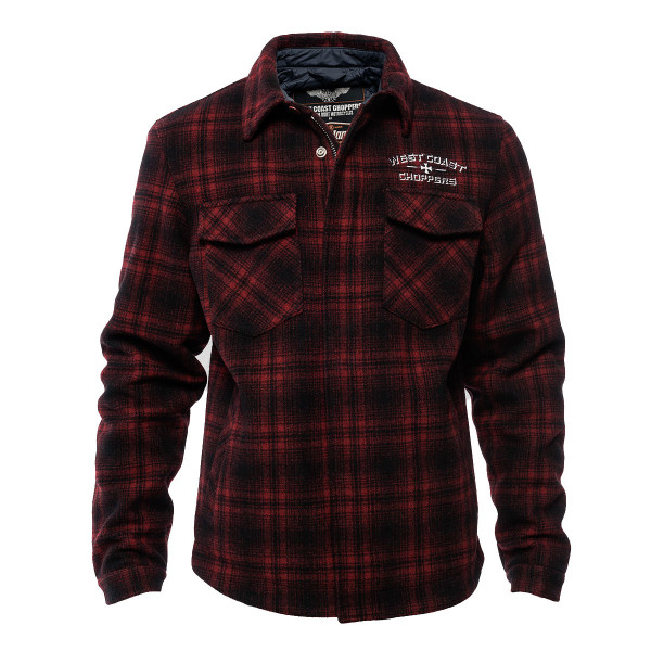 WCC West Coast Choppers Jacked Quilted Gang Red/Black