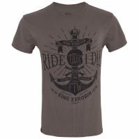 King Kerosin T-Shirt Ride Till I Die Watercolour Olive