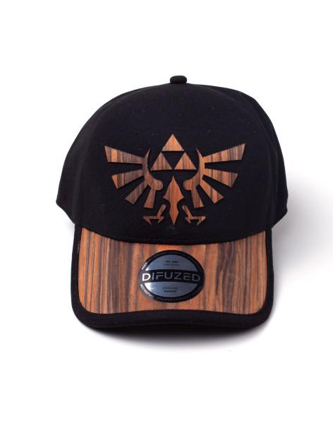 Zelda Wooden Seamless Hyrule Cap Black