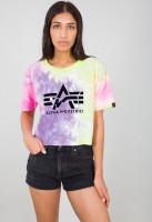 Alpha Industries Damen T-Shirt Big A Batik T Women Purple Batik