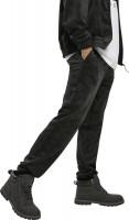 Southpole Trousers AOP Velour Pants Black