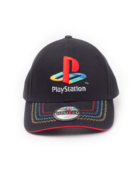 Playstation - Retro Logo Adjustable Cap Black