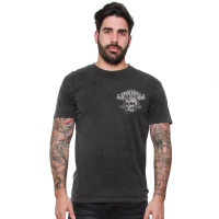 Lucky 13 T-Shirt Bikes And Booze Tee Washed Black