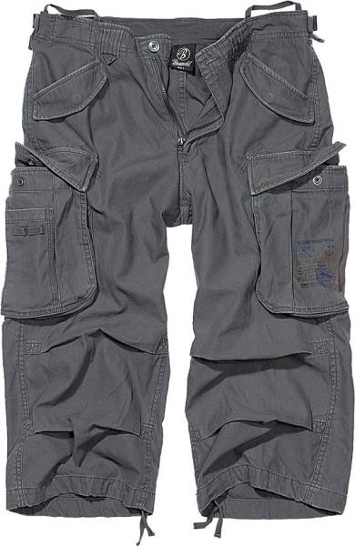 Brandit Shorts Industry Vintage 3/4 in Anthracite