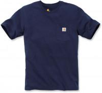 Carhartt Herren T-Shirt Workw Pocket T-Shirt S/S Navy