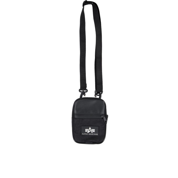 Alpha Industries Rubber Print Utility Bag Taschen Black