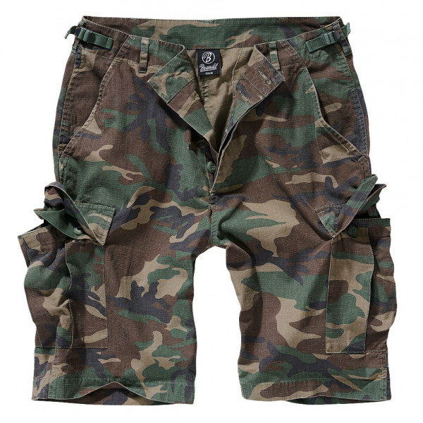 Brandit BDU Ripstop Shorts in Woodland