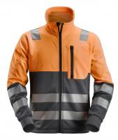 Snickers AllroundWork Hi-Vis Arbeitsjacke m. Reißverschluss, Kl. 2, EN 20471 HV-Orange-Stahlgrau