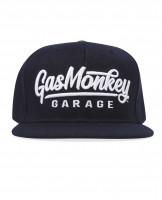 Gas Monkey Garage Cap Snap-Back 3D Script Logo Blue