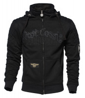 WCC West Coast Choppers Hoodie Choppers Por Vida Zip Black