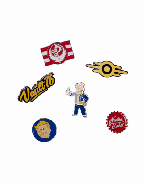 Fallout Pins Fallout 76 - Set Of 6 Metal Pins Multicolor