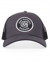 Gas Monkey Garage Cap Trucker Style Initial Logo Patch Grey