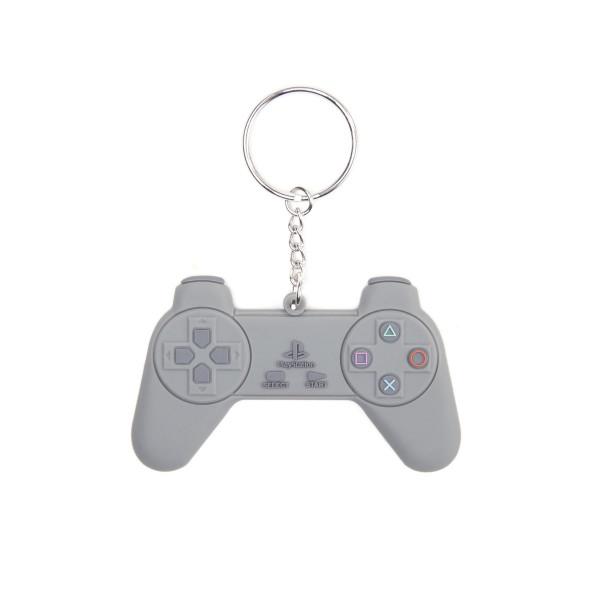Playstation Keychain Grey Controller Rubber Grey