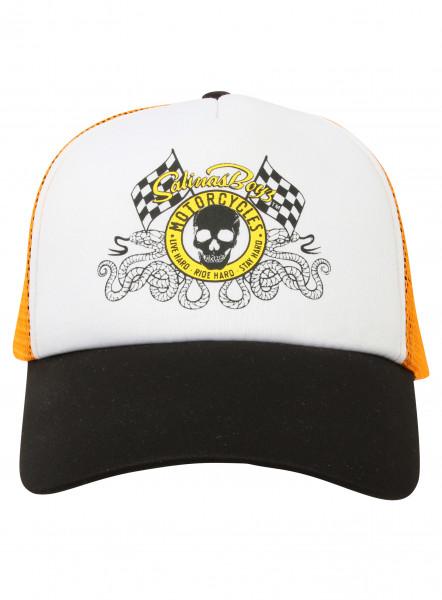 Salinas Boys Cap Trucker Cap Skull Logo Orange