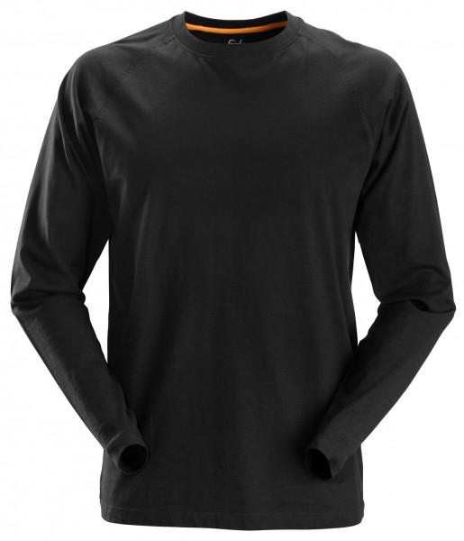 Snickers AllroundWork langarm Baumwoll-Shirt Schwarz